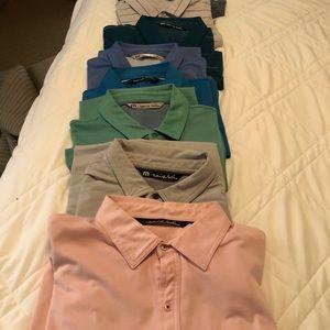 Men's Travis Matthew golf shirts, XL